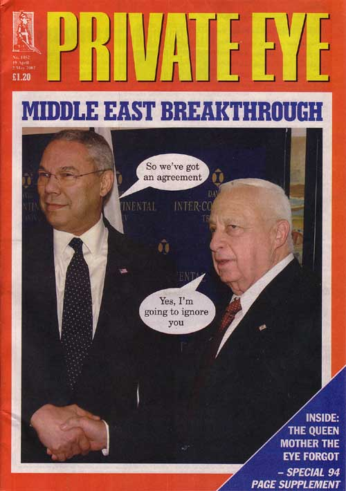 Colin Powell Ariel Sharon