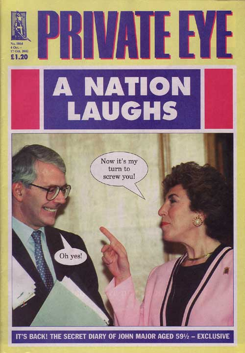 John Major Edwina Currie