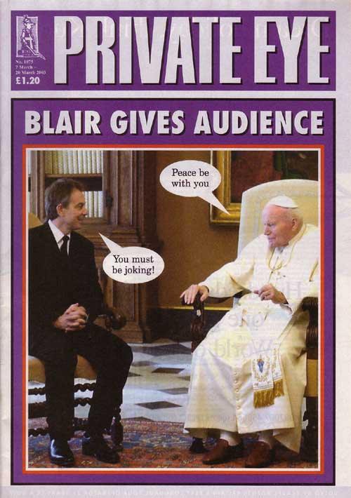 Tony Blair Pope John Paul II