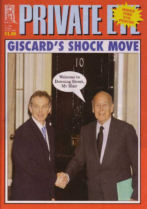 Tony Blair Valery Giscard d'Estaing