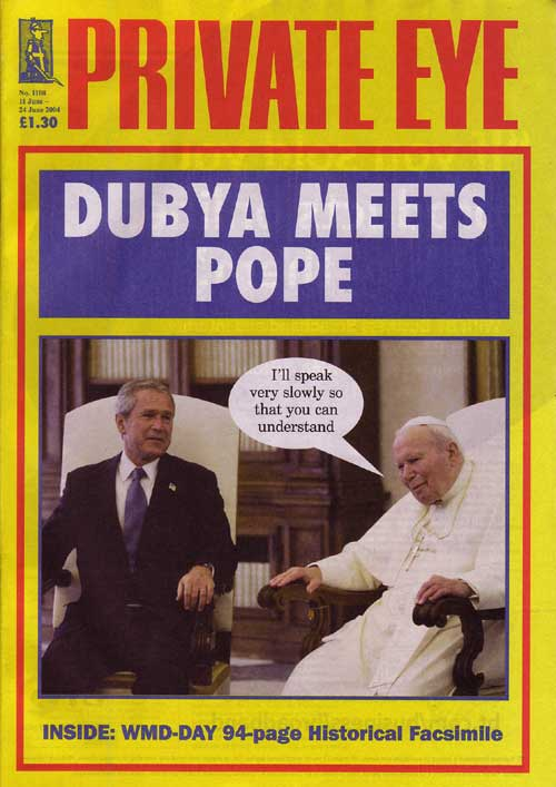 George W Bush Pope John Paul II