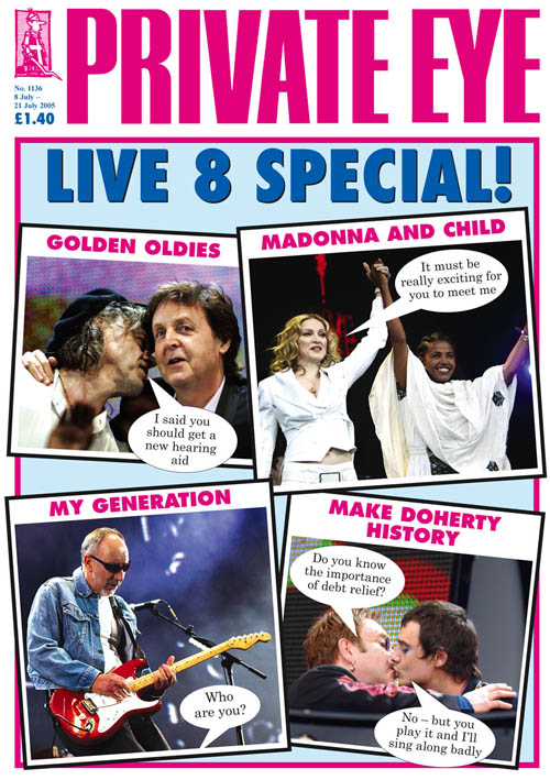 Bob Geldof Paul McCartney Madonna Pete Townshend Elton John Pete Doherty