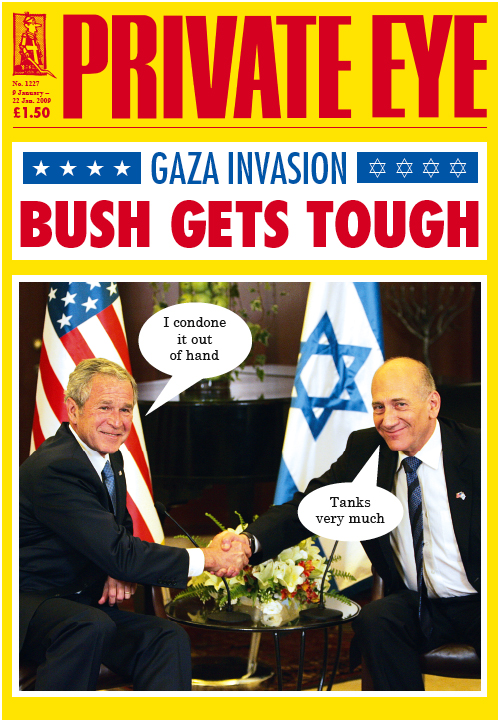George W Bush Ehud Olmert