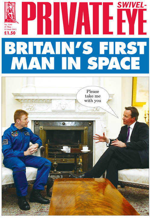 Tim Peake David Cameron