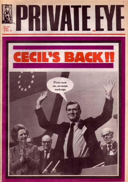Cecil Parkinson Margaret Thatcher Denis Thatcher
