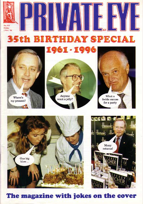 Neil Hamilton John Major James Goldsmith Sarah Ferguson Jeffrey Archer